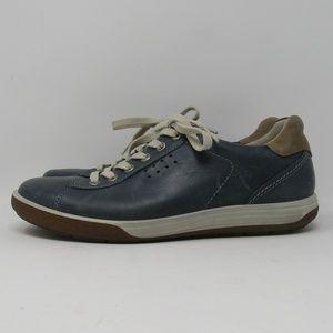 Ecco Blue White Shoes Size 9 / 39 Low Cut Lace Up